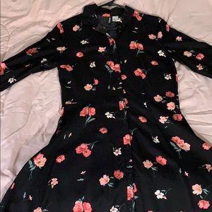 H&M floral dress shirt